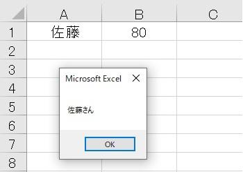 msg=MsgBoxセルの値+メッセージ