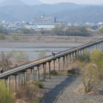 世界一長い900mの木造歩道橋・蓬莱橋