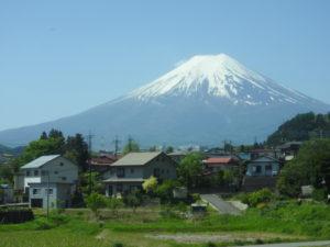 富士急行線富士山