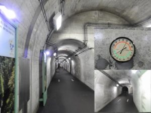清津峡渓谷トンネル内