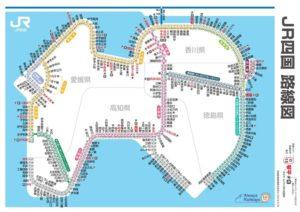 JR四国路線図