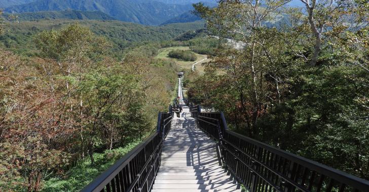 小丸山展望台から階段