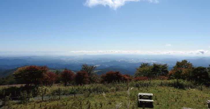 霧降高原小丸山展望台への遊歩道M地点